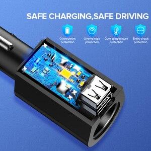 Image 4 - Ugreen Adaptador de cargador de coche, Cargador USB de carga rápida 3,0 Dual, 60W, para iPhone X, 8, Samsung Galaxy S9, S8, LG, V20