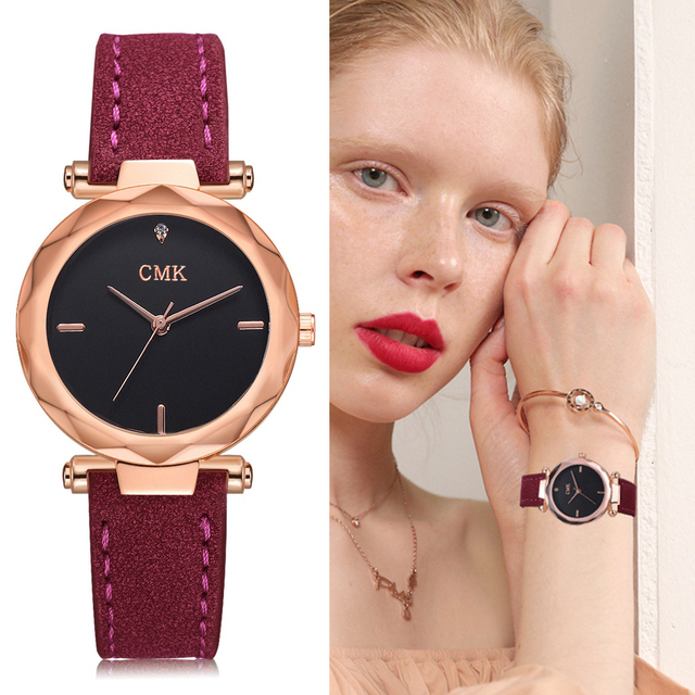 2018 New Fashion Brand Luxury Women Watches Leather Strap Vintage Sport Wrist Wa
