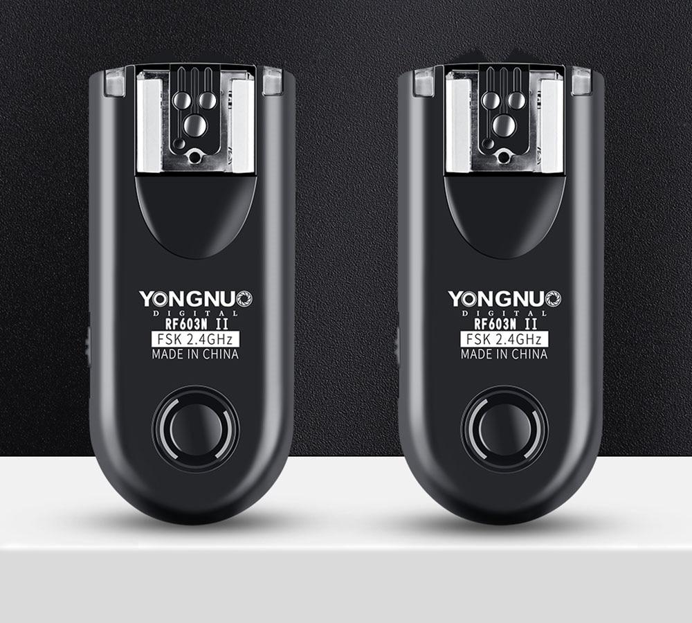 Yongnuo RF 603N II Wireless Flash Trigger 2 Transceivers Set Shutter Release for Nikon D810 D800