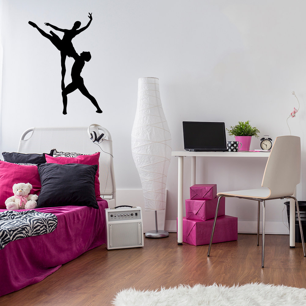 Home & Garden A Man And A Woman Ballet Dancers Wall Sticker Elegant Art Mural Bedroom Applicable Decal Ballerina Kids Room Vinyl Decor Syy250 Demand Exceeding Supply