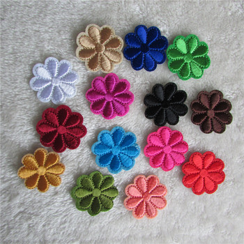 2016 year different color flower fashion style hot melt adhesive applique embroidery patches stripes DIY accessories 1 pcs sell image