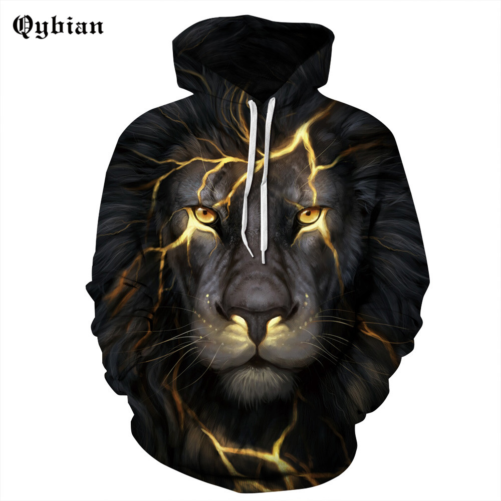Qybian Super Light Thunder Lions aggressive Pullover 3D Hoodies for Women/Men Casual Sweatshirts male Long sleeve tops