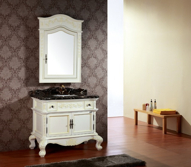 Italien spécial texture bois grain flottant salle de bains vanité ...