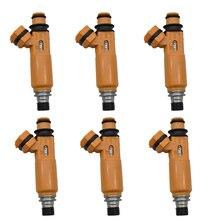 Топливный инжектор 6 шт./лот 195500 3300 MD337900 для Mitsubishi Montero Sport 1999 ~ 2004 Montero 1998 ~ 2000 3.5L V6