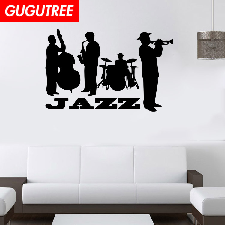 Decorate jazz art wall sticker decoration Decals mural painting Removable Decor Wallpaper LF 123 in Wall Stickers from Home Garden