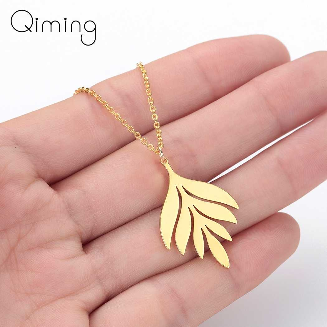 Summer Plant Leaves Elegant Necklace Bohemia Charm Mother's Gift Fashion Leaf Female Women Necklace Cheap Gift Collier