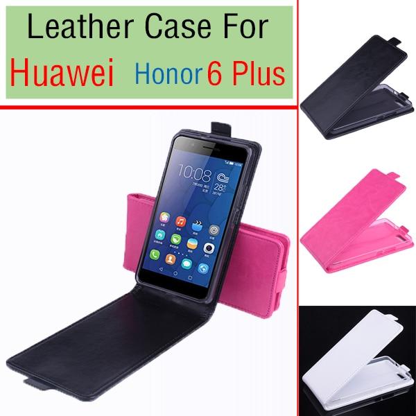 Huawei honor6 plus leather case cubierta del tirón del teléfono celular accesori