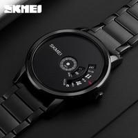 SKMEI Simple Style Fashion Men Quartz Watch Luxury Creative Steel Band Waterproof Casual Men S Watches