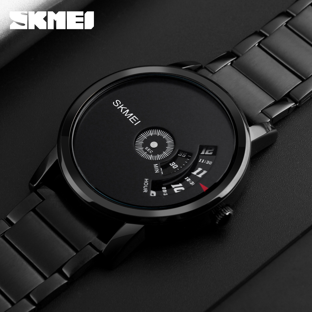 SKMEI Simple Style Fashion Men Quartz Watch Luxury Creative Steel Band Waterproof Casual Men's Watches Relogio Masculino