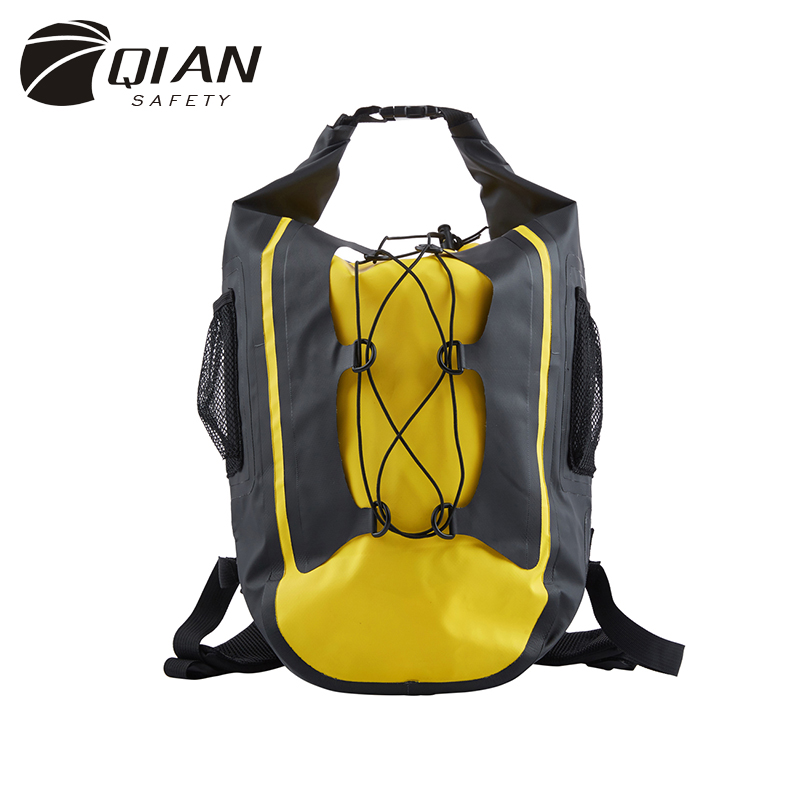 QIAN SAFETY Premium Floating Waterproof Dry Sack 30L Dry Bag Backpack Adjustable Shoulder Strap for Water Sports Beach Activity