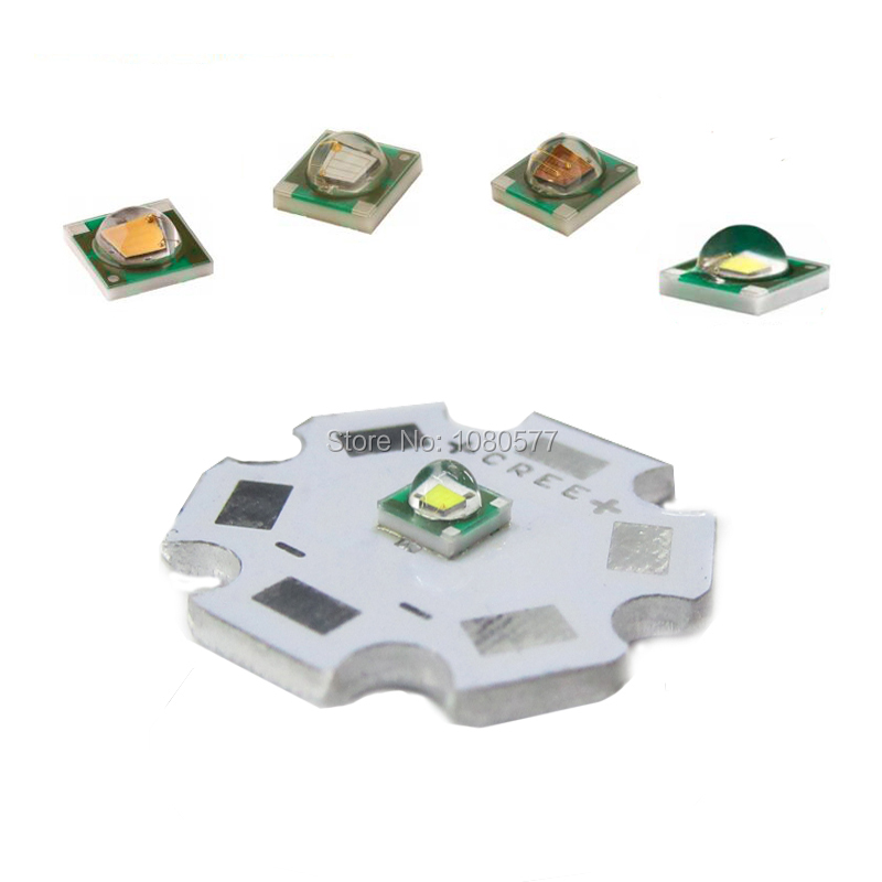 5pcs Cree LED XPE XP-E R3 3535 SMD 1W 3W High Power LED Diode Cold Warm White Red Green Blue Yellow With 20mm Star PCB Base
