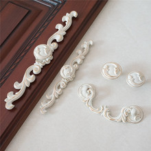 Shabby Chic Drawer Knobs Pulls Handles Dresser Pull Knob Bail Ivory White Gold Cabinet Handle Back Plate French Kitchen