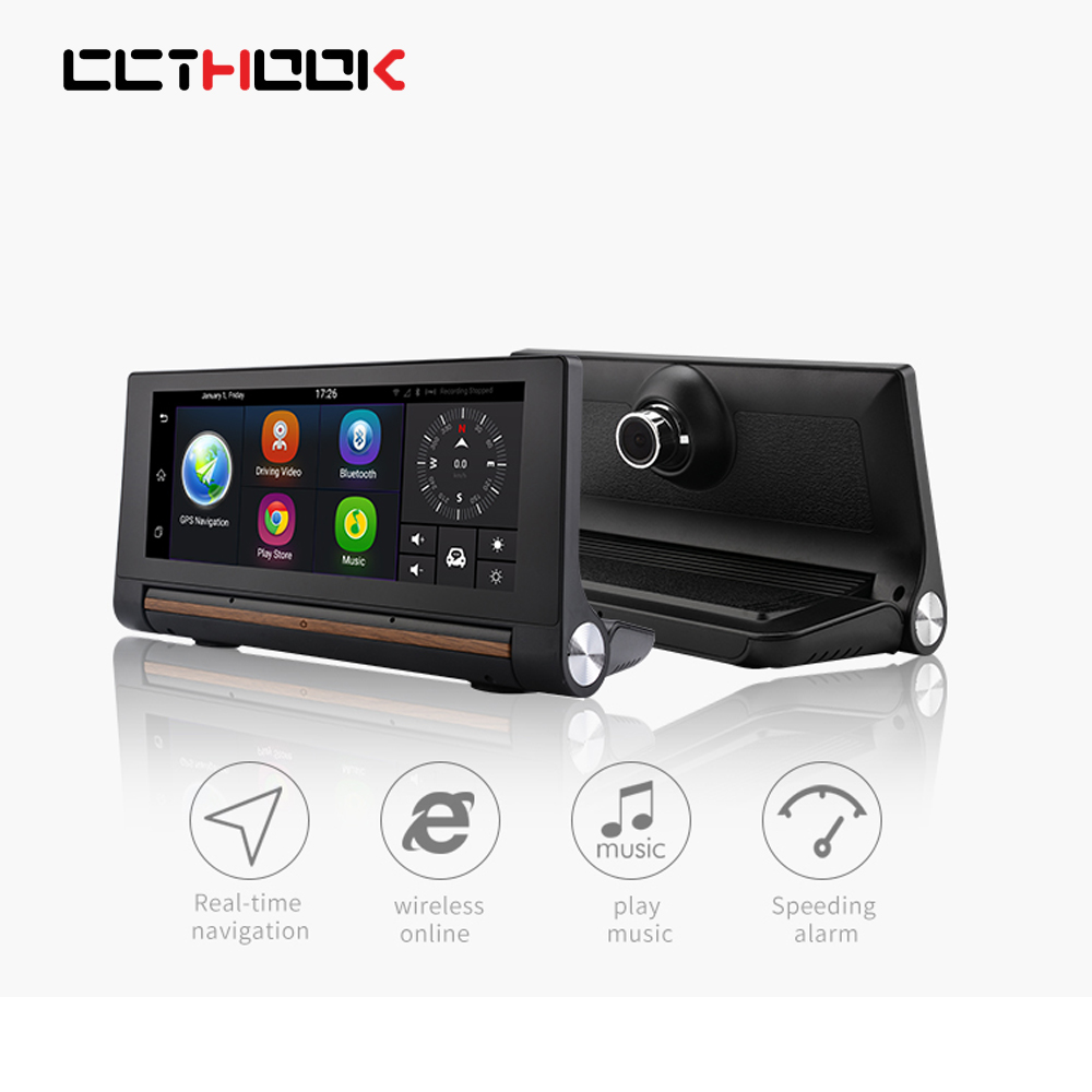 New 7 IPS 3G Wifi Car DVR Camera Android 5.0 GPS Navigation Video Recorder Bluetooth Dual Lens Camcorder Dash cam Full HD 1080P