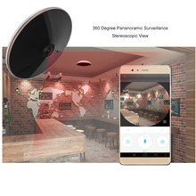 360 Degree Panoramic Surveilance View Mobile Remote Monitoring IP Camera Wireless Connection Real Time Alarm Surveillance Camera