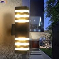 IWHD Modern Outdoor Wall Light Gate Blacony Yard Garden Porch Lights Outdoor Lighting Wall Lamps Waterproof IP65 Buitenlamp