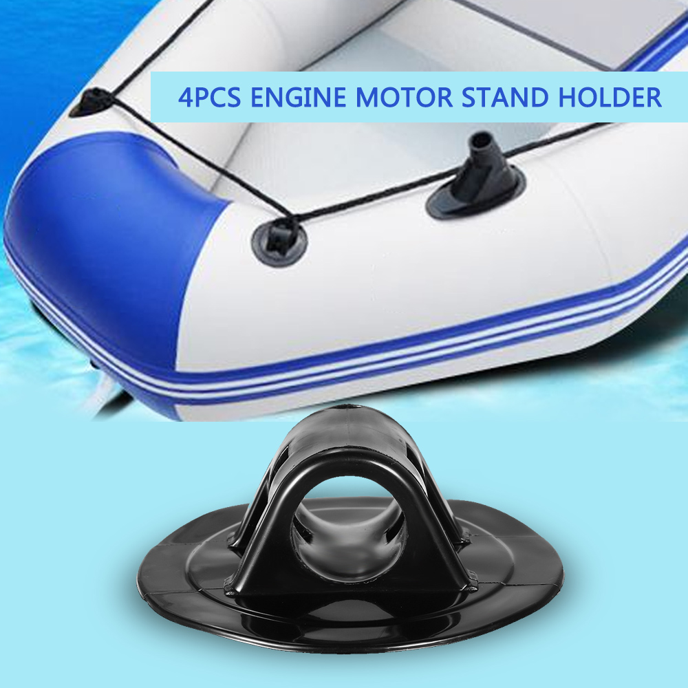 Pvc Engine Mount Rubber Boat Inflatable Kayak Motor Black Buckle Power Installation Fishing Hunting Marine Led 210 4pcs Mounts Stand Holder Mounting Bracket Clips For Canoe Dinghy