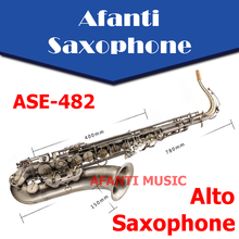 Afanti Music Eb tone / Brass body / Gilding Alto Saxophone (ASE-482)