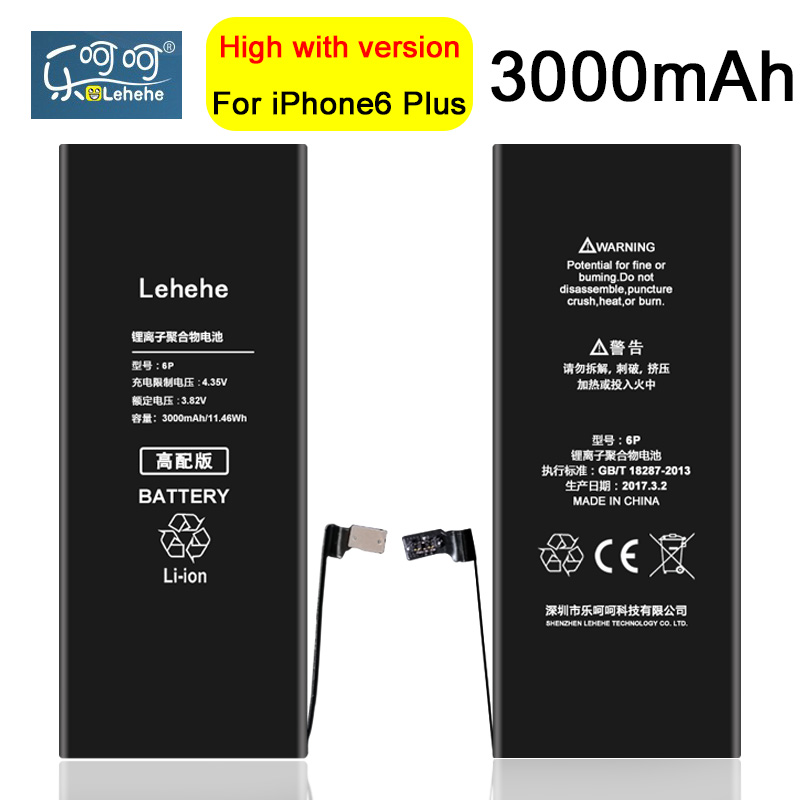 Original LEHEHE Battery For iphone 6 plus 3000mAh High Quality New 100% 0 cycle Battery  ...