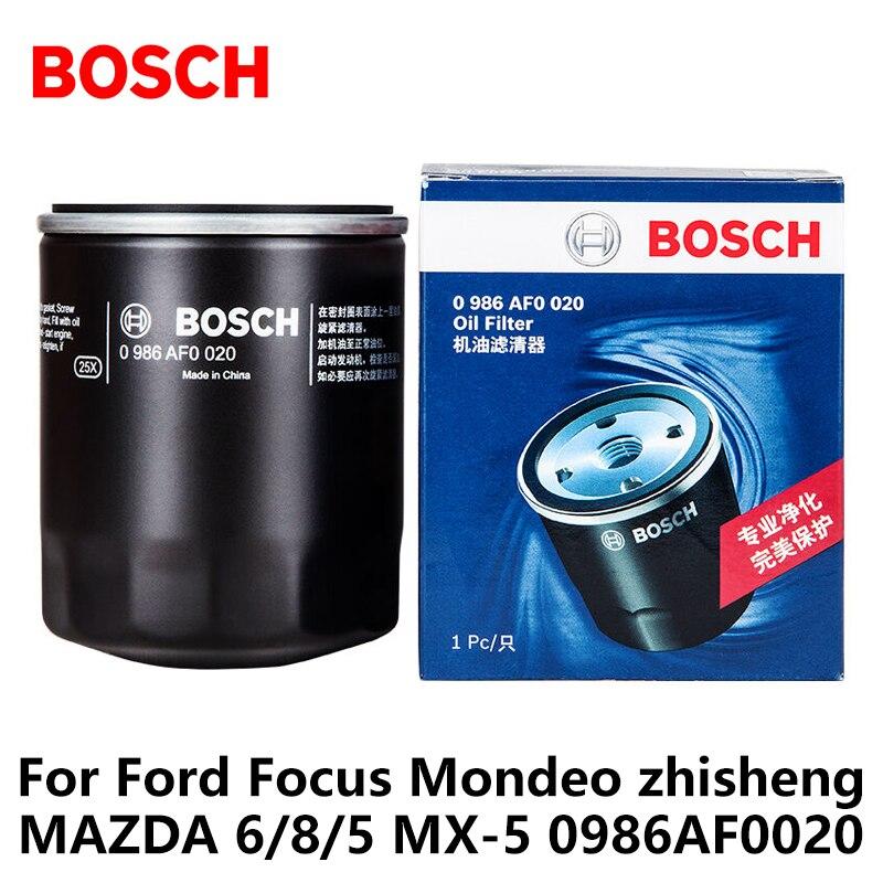 Bosch автомобиль Масляные фильтры для мотоциклов для Ford Focus Mondeo Чжишен Mazda 6 Raptor Mazda 8 Mazda 5 MX-5 0986af0020