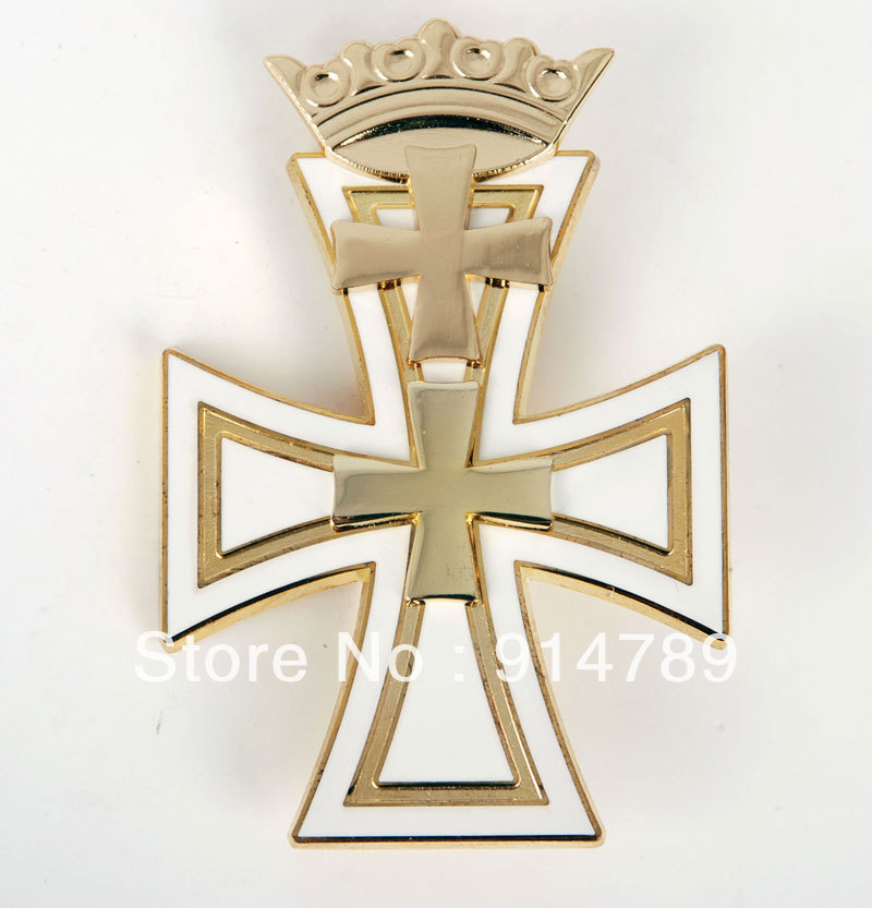 WW2 GERMAN DANZIG CROSS 1ST CLASS METAL BADGE MEDAL-33199