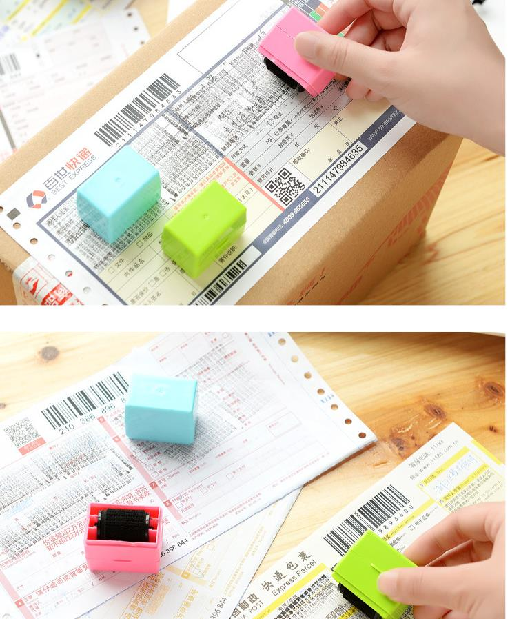 1Pcs New Type Garbled Privacy Seal Express Single Smearing Cover Word Stick Hand Protect Account Security Chapter Gift H2286