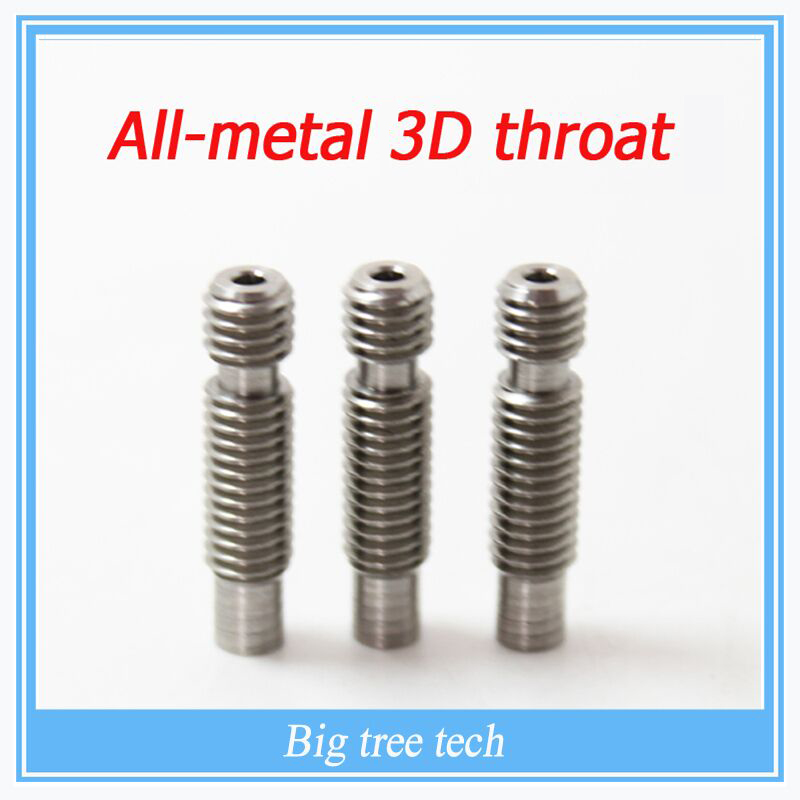 3D Heat Break Hotend Throat M6 M6 For 1.75 mm/3.0mm Filament Stainless Steel 3D Printer запчасти для принтера 3d printer accessories feed nozzle throat m6 20mm 10pcs 3d ultimaker 3 3d m6 20 3d printer feed throat ultimaker printheads for 3mm supplies