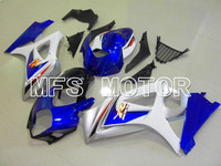 For Suzuki 07 08 GSX R GSXR 1000 GSXR1000 K7 Motorcycle Fairing Bodywork Kit ABS Plastic Injection 2007 2008 White Blue