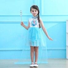 cosplay costume dress girls princess skirt TUTU for birthday party Elsa Sofia Snow White