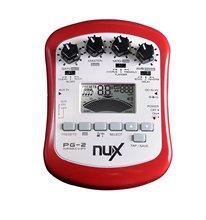 Nux pg-2 portable electric guitar multi-effects processor con sintonizador metrónomo puerta de ruido