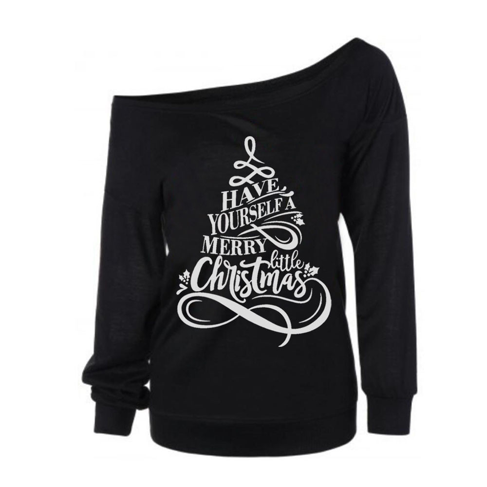 Free Ostrich Merry christmas Letters print Sweats Women Sweatshirts Long Sleeve Pullovers Fashion Unisex Outerwears Tops C1240