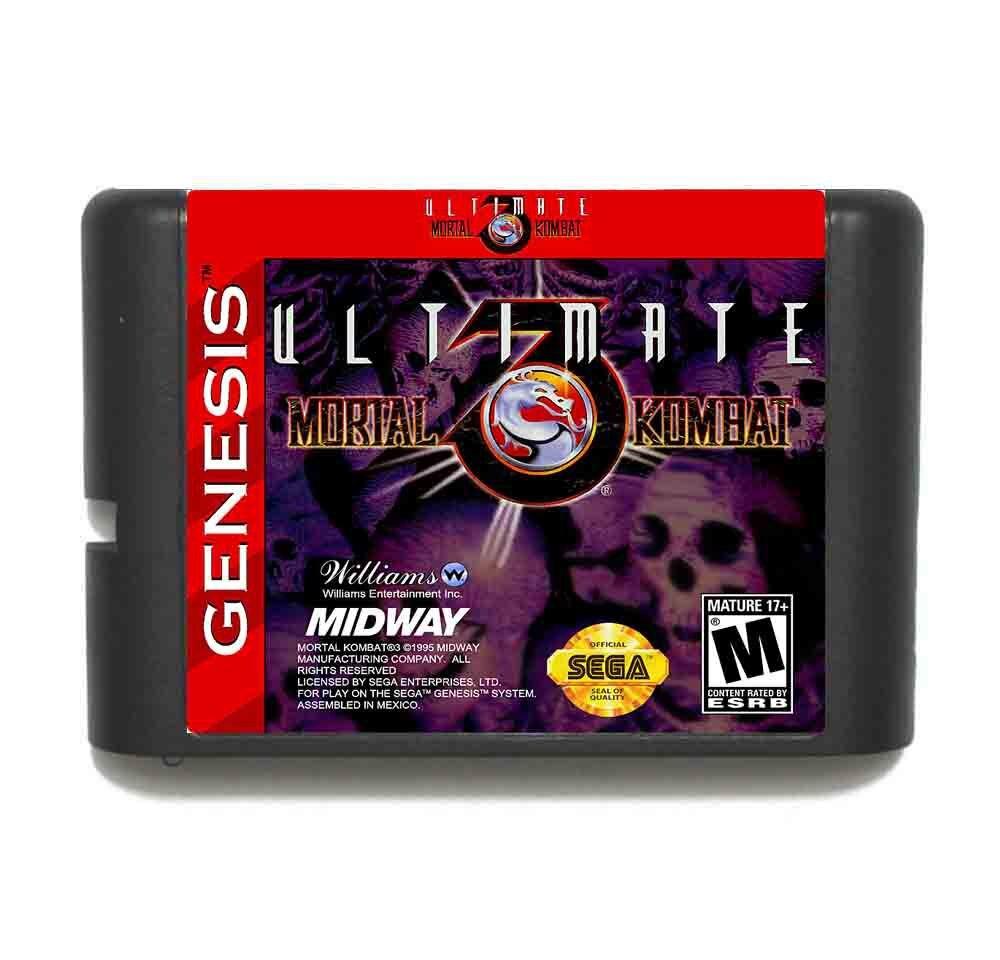 Ultimate Mortal Kombat III 16 Bit Game Card For Sega Mega Drive & Sega Genesis