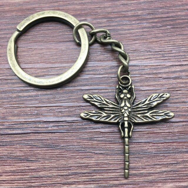 Hot Sale New Metal Keychain Butterfly Keychain Bee Keychain Car Key Chain Accessories Handmade Cute Gifts