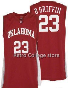 Mens #23 Oklahoma Sooners Blake Griffin College Basketball Jerseys Red Retro Stitched Sports Jersey Shirt Custom any Number ,Nam