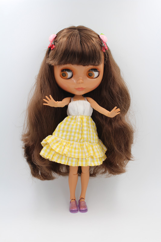 Free Shipping BJD joint RBL-235J DIY Nude Blyth doll birthday gift for girl 4 colour big eyes dolls with beautiful Hair cute toy free shipping diy nude blyth doll birthday gift for girl big eyes with beautiful hair cute toy