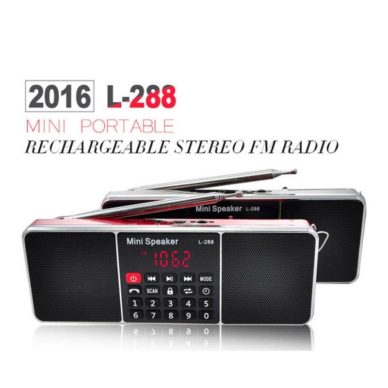 Мини портативный аккумуляторная стерео l-288 fm-радио спикер жк-экран действия tf карта usb диск mp3 плеера громкоговоритель