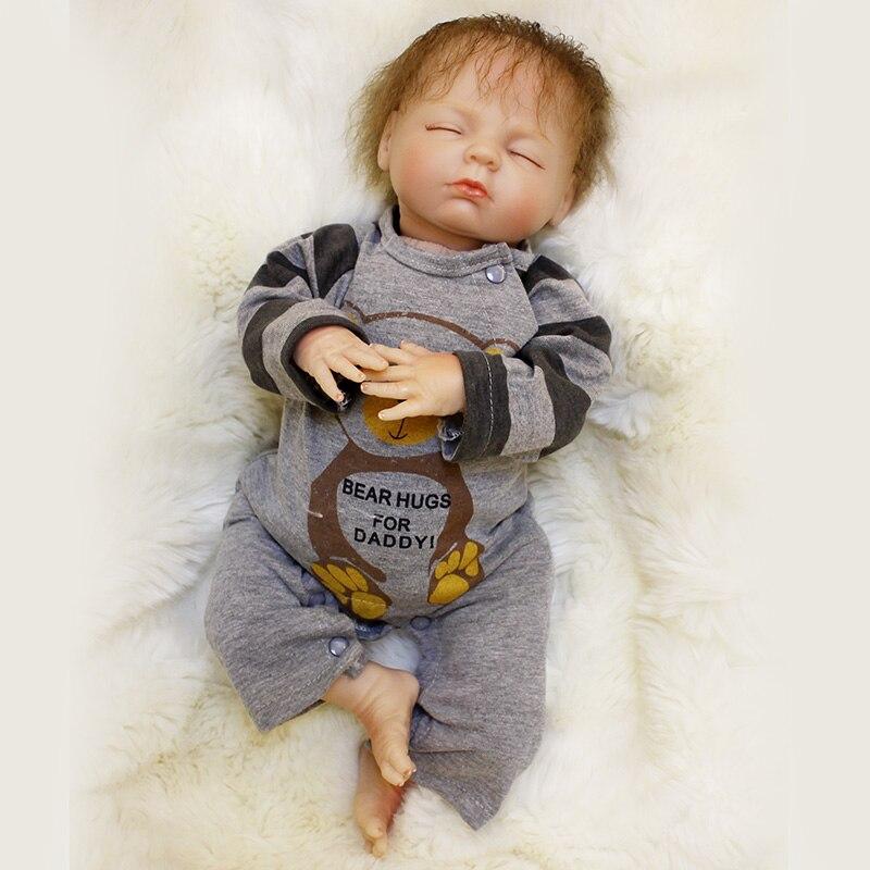 18inch Lifelike Bebe Reborn Menina Bonecas Silicone Vinyl Reborn Baby Doll Gift bebe reborn SDK-80R1 Sleeping Girl Dolls warkings reborn