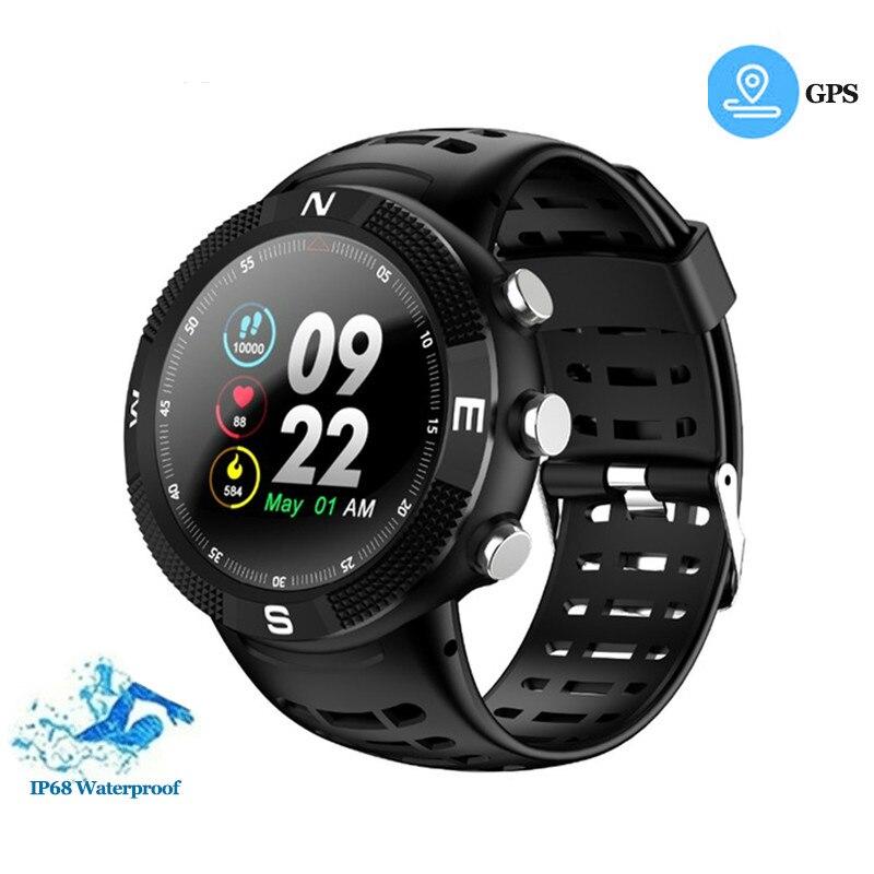 GEOFOX montre intelligente GPS positionnement Sport Smartwatch IP68 étanche podomètre montre appel Message rappel fréquence cardiaque montre-bracelet