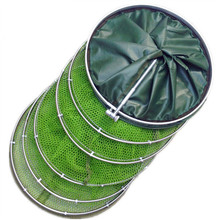 Folding Fishing Net Tackle Aluminum Ring Edge Quick-drying Shrimp Net Fish Glue Shrimp Cage Fishing Net Tackle Acceriess 1.5m 2m