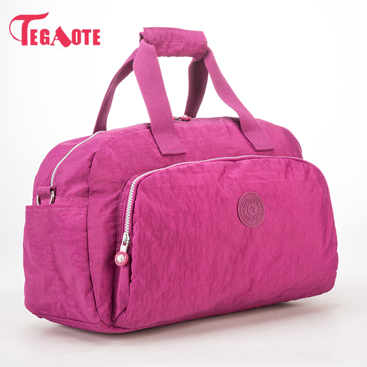 TEGAOTE Nylon Waterproof Women Travel Bags Large Capacity Canvas Bag Ladies Luggage Travel Duffle Bags Outdoors Travel Bag 281