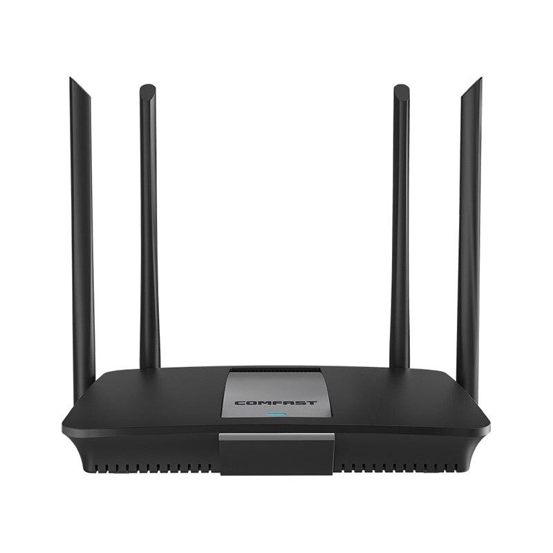 Comfast Cf-Wr618Ac 1200Mbps routeur Wifi sans fil double bande 2.4G/5G 1 Wan + 4 Lan Gigabit Port 802.11Ac 4x Route d'antenne externe