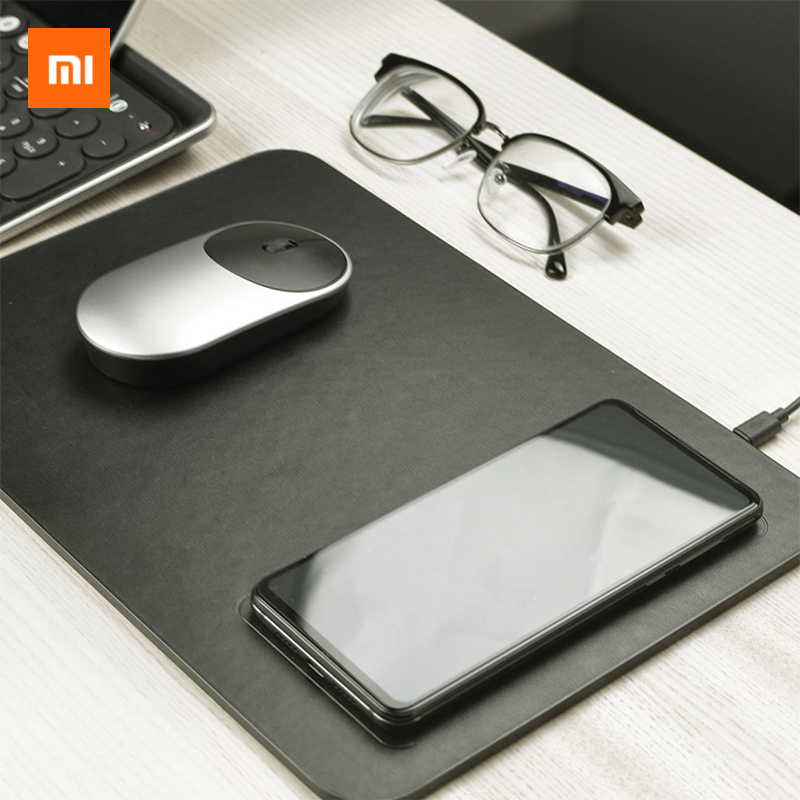 <font><b>Xiaomi</b></font> MIIIW Smart Mouse Pad Mobile Phone Qi Wireless Charging <font><b>Mousepad</b></font> For iPhone X/8 Plus Samsung <font><b>Xiaomi</b></font> Huawei Quick Charge image