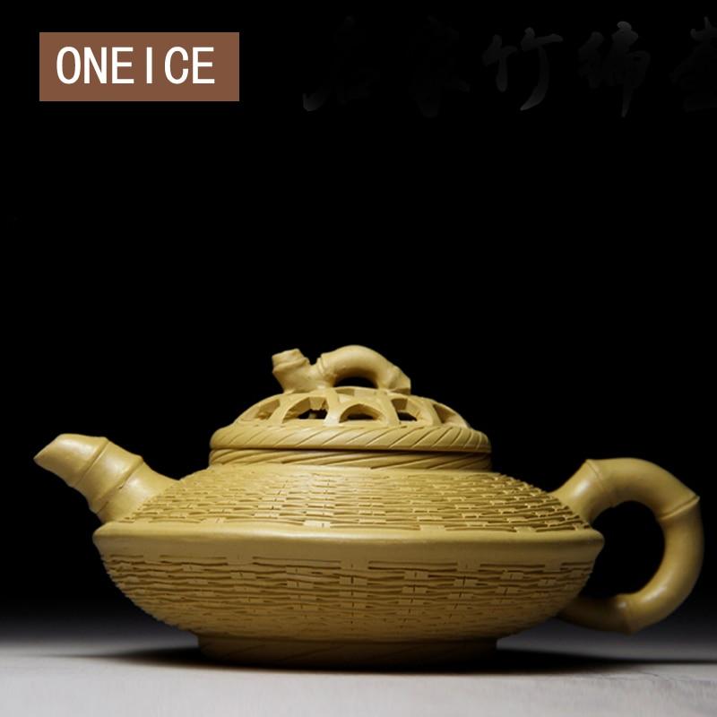 Yixing Teapot famous handmade teapot of the original section of mud handicrafts Author Qian Jufang Bamboo