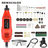 NEWACALOX EU 220V 130W Electric Mini Variable Speed Grinder Carving Machine For Metal Wood Glass Engraving