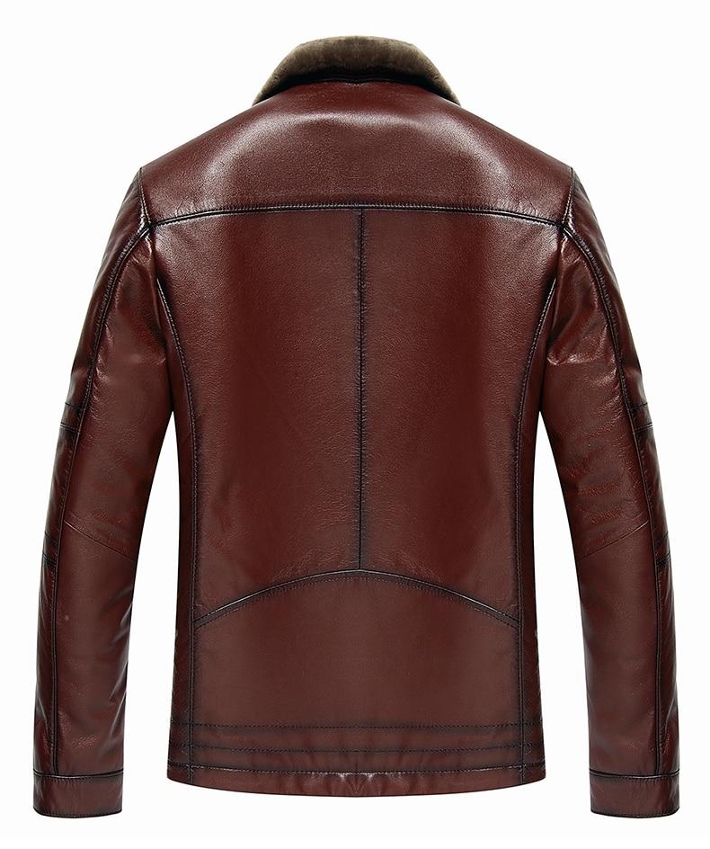 HTB1D3ftdi6guuRjy1Xdq6yAwpXaz AYUNSUE Men's Genuine Leather Jacket Real Cow Leather Plus Size Cowhide Jackets for Men Natural Lamb Fur Coat L178101 KJ841