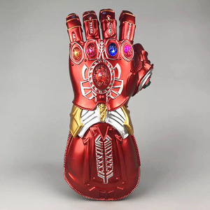 Limited edition Marvel Avengers 4 Iron Man Gloves Thanos Infinite gloves With LED Light Toy Figures model gifts for children