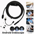5.5mm 1 m 2 m 5 m Cámara Endoscopio Android Para PC OTG Teléfono Ip67 Impermeable Del Animascopio de Inspección de Serpiente tubo Mini Endoscopio Android
