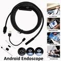 5.5mm 1 m 2 m 5 m Câmera Endoscópio Snake Inspeção Endoscópio Android Para PC OTG Telefone Ip67 À Prova D' Água tubo Mini Endoscópio Android