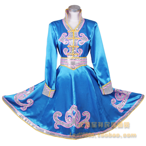 Ethnic garment Mongolia nationality clothing costumes Mongolia stage performance dance stage performance wear Free shipping Islamabad