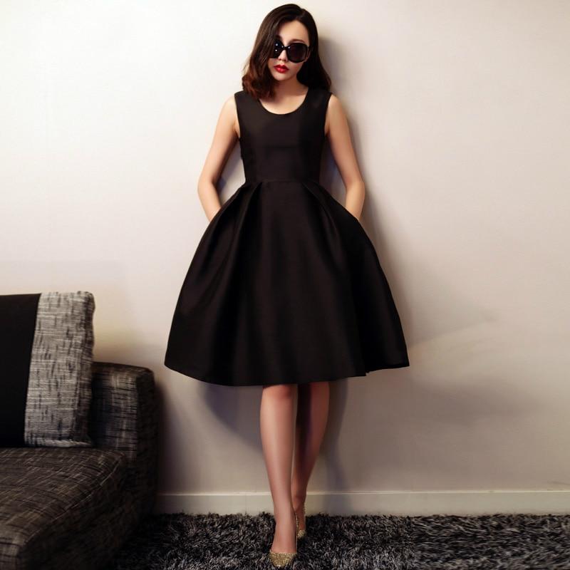 Mode Rétro Soirée Réservoir Longue Mignon Manches Robes A Sans Robe Satin De Femmes Automne ligne Dames Nouvelle aq0OvE