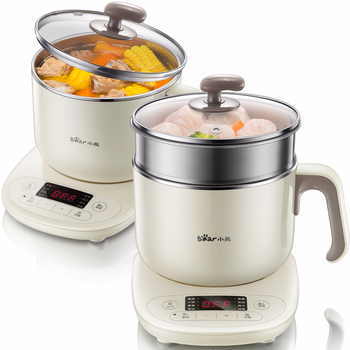 Bear Dual Temperature Control Multi-functional Hot Pot Dormitory Small Electric Cooker